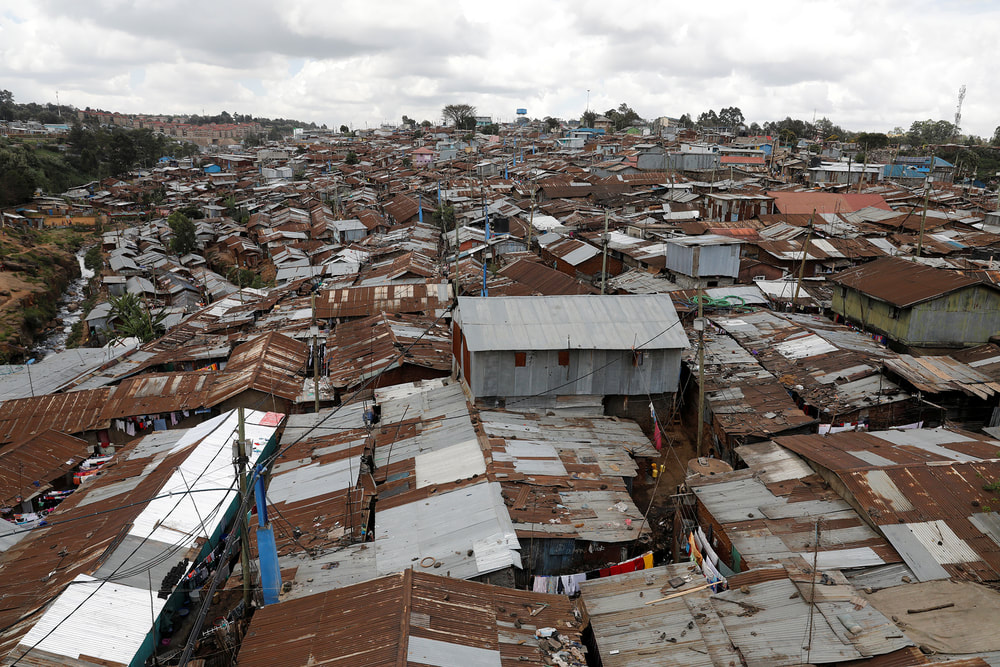 Poor living conditions in Nairobi, Kenya contribute to the fast transmission of disease